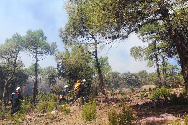 Plusieurs incendies se sont déclarés dans le secteur de Bizanet - Août 2021