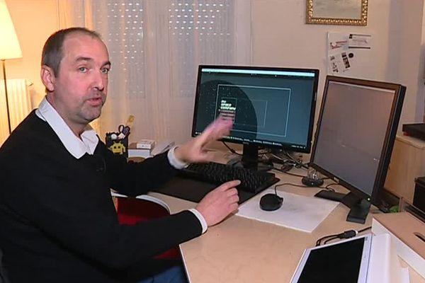 Christophe Canon crée des jeux vidéo depuis dix ans / Reims, le 19 décembre