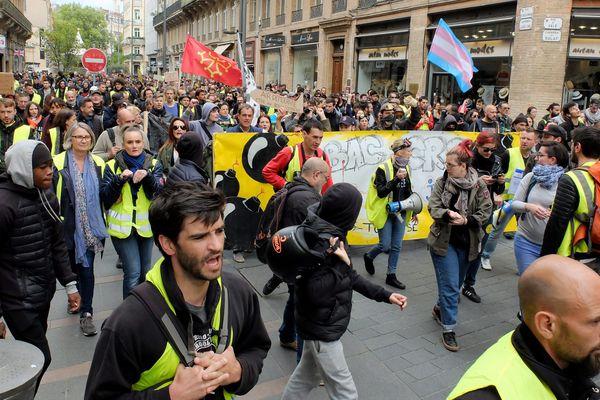 Manifestation de gilets jaunes à Toulouse le 4 mai 2019