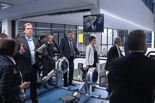 Inauguration du nouveau centre d'entraînement de l'ASM Clermont. 22 septembre 2015.