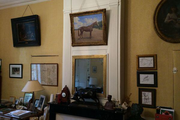 Peinture représentant Iris XVI, dans le cabinet de travail du château de la famille de Hautecloque