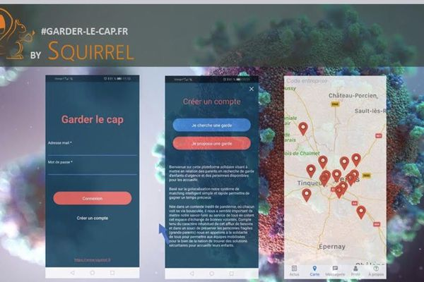 Visuel explicatif de l'application Garder le cap