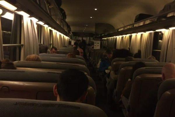 Dans le train Caen-Paris ce lundi matin