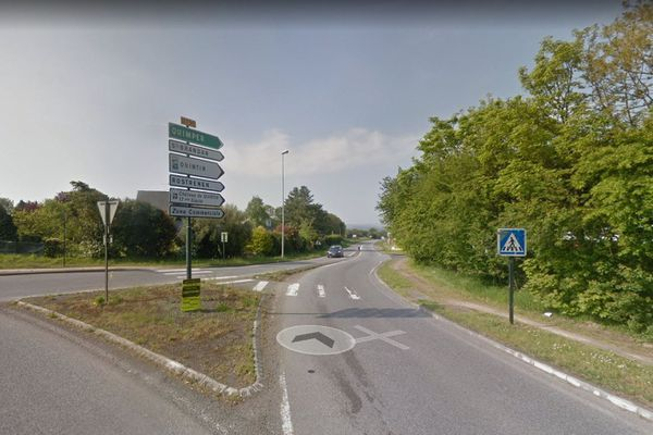 L'accident a eu lieu sur la route départementale 790 à la sortie de Plaintel.