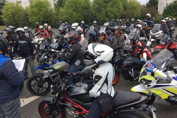 90 motards étaient rassemblés à Beaugency ce samedi 11 septembre.