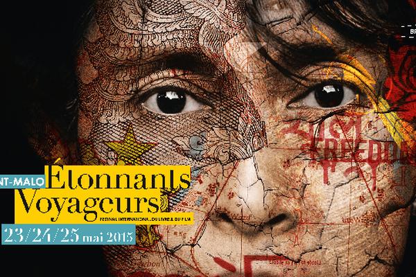 Affiche de la 25è édition du Festival International du livre & du film de Saint-Malo