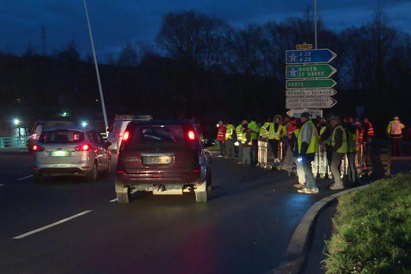 blocage à Dieppe, jeudi matin 19 décembre