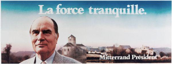 L'affiche de François Mitterrand pour l'élection présidentielle de 1981.