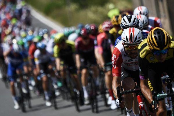 Le peloton lors de la première du étape de la 106e édition du Tour de France (Bruxelles-Brussel), le 6 juillet 2019.