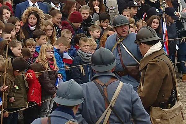 Reconstitution d'une tranchée pour la cérémonie du 11 novembre à Meroux-Moval (90)