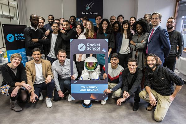 Une promotion de la Rocket School à l'image de celle que sera la première du campus de Roubaix à partir du 5 juillet 2021