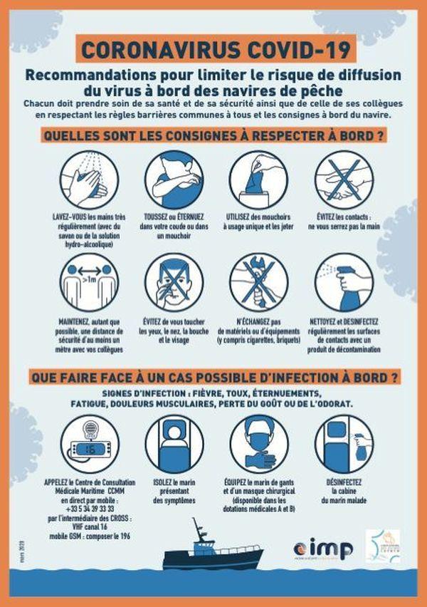 Mesures de sécurité sanitaire sur les thoniers