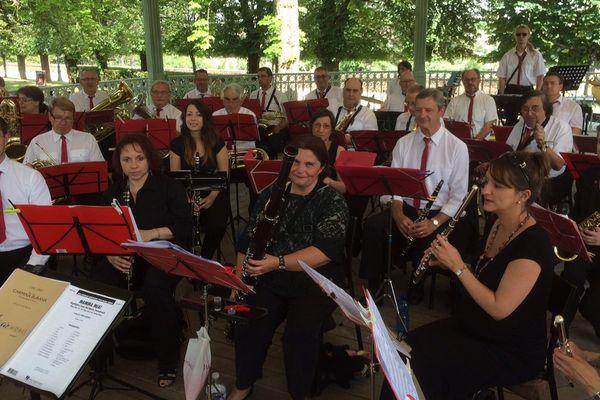 L'orchestre du CEP au parc de Blossac à Poitiers (86).