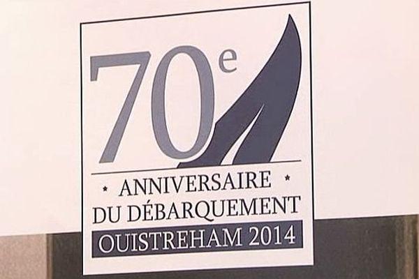 Le logo officiel de la ville de Ouistreham pour le 70ème anniversaire du Débarquement