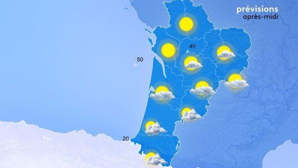 La dépression s'évacue vers l'Italie et elle laisse un peu de pluie au pied des Pyrénées.