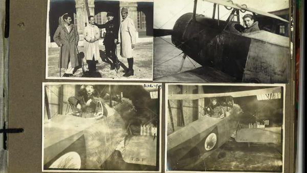 Il a servi dans les premiers avions militaires