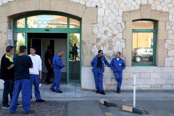 Des salariés de Saint-Louis Sucre, un jour de grève, le 3 juin 2019