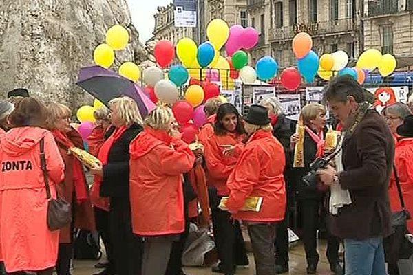 Montpellier -manifestation des femmes contre les violences conjugales - 24 novembre 2017.