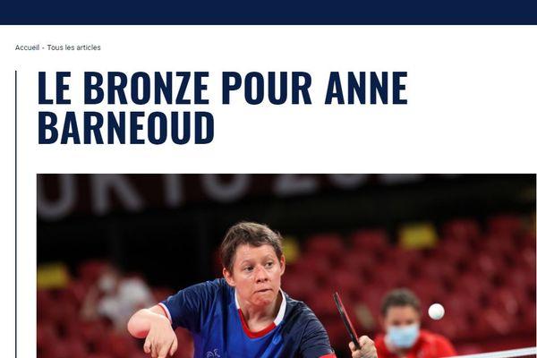 Annonce officielle sur le site de l'équipe de France. Les pongistes français ont remporté un brillant palmarès aux Jeux paralympiques de Tokyo 2021