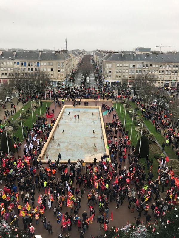 Manif contre la réforme des retraites à Saint-Nazaire, le 9 janvier 2020