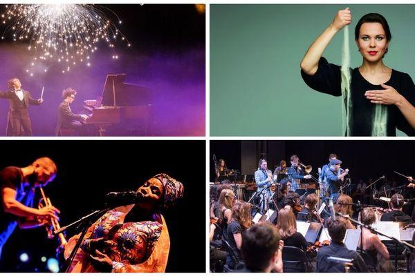 """Ibrahim Maalouf et Angélique Kidjo, Les Virtuoses, Katerina Barsukova et Dmitri Makhtin, Andreas Schaerer et Hildegard... 4 temps forts mais """"C'est pas classique"""", c'est plus 60 concerts."""