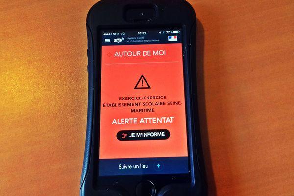 L'écran qui s'est affiché ce vendredi 13 octobre lors du test