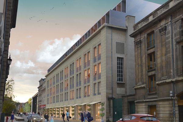 Projet hôtel Rockfeller, parvis de la cathédrale - Reims