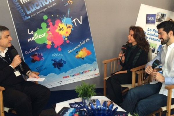"""Victoria Abril et Miguel Ángel Muñoz pour la série """"Sin Identidad"""""""