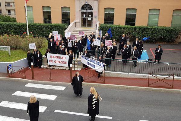 Les avocats mobilisés à Grasse, Nice, Toulon et Draguignan.