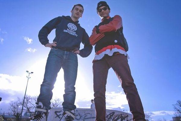 A gauche Alan, à droite Stan, danseur de hip-hop et le Pharell du Happy rennais