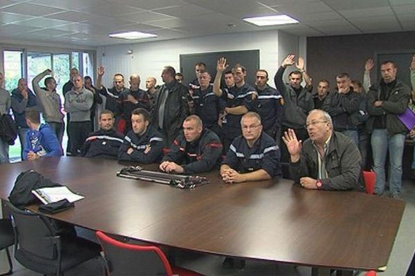 Les sapeurs-pompiers du Calvados réunis ce mardi matin en assemblée générale