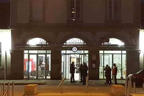 La gare de La Souterraine sécurisée par les gendarmes, le 27/10/18
