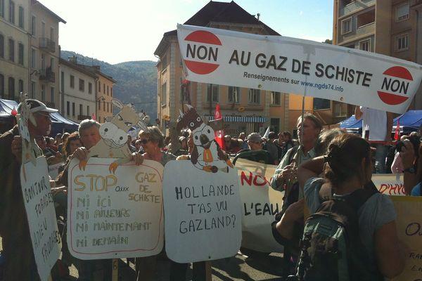 Les manifestants se sont donnés rendez-vous à Saint Claude, dans le Jura.