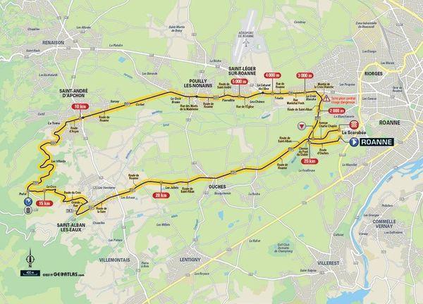 Critérium du Dauphiné 2019 : le parcours du contre-la-montre individuel de la 4e étape