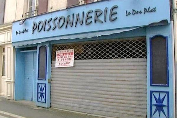 La poissonnerie d'Etretat a fermé ses portes.