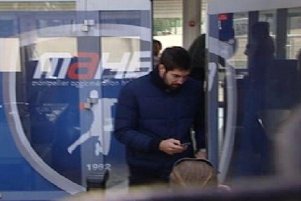 Montpellier : Nikola Karabatic sort du club après son entretien - 30 octobre 2012.