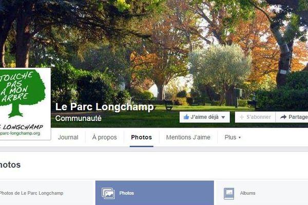 Capture d'écran de la page Facebook du collectif Sauvons le parc Longchamp.