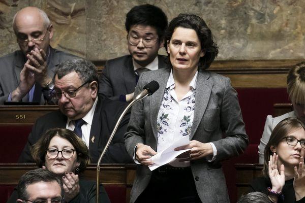 La députée Fabienne Colboc, lors d'une séance de Questions au gouvernement, à l'Assemblée Nationale.