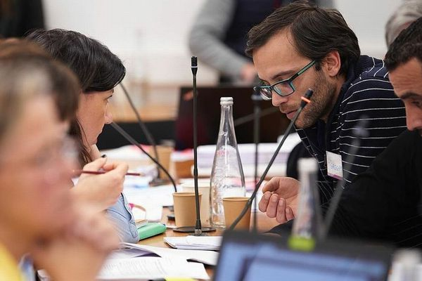 Le Breton Grégory Oliveira Dos Santos lors d'une session de la Convention Citoyenne pour le Climat