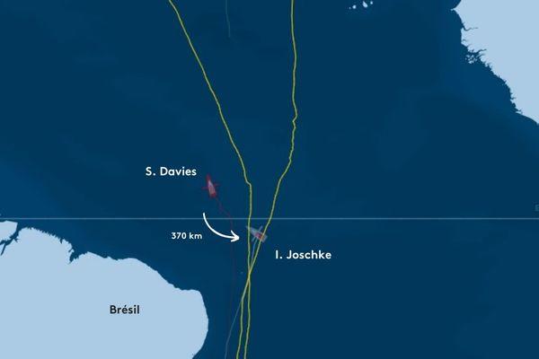 Les deux skippers sont à 200 milles l'une de l'autre.
