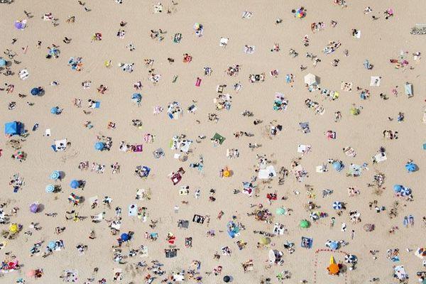 La plage de Coney Island, à New York (Etats-Unis).