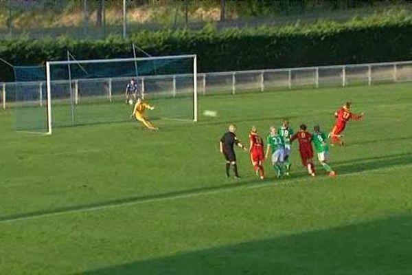 Rodez a marqué sur penalty en fin de première mi-temps.