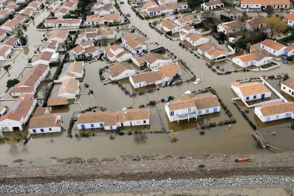 La Faute-sur-Mer, le 3 mars 2010 après le passage de la tempête Xynthia.