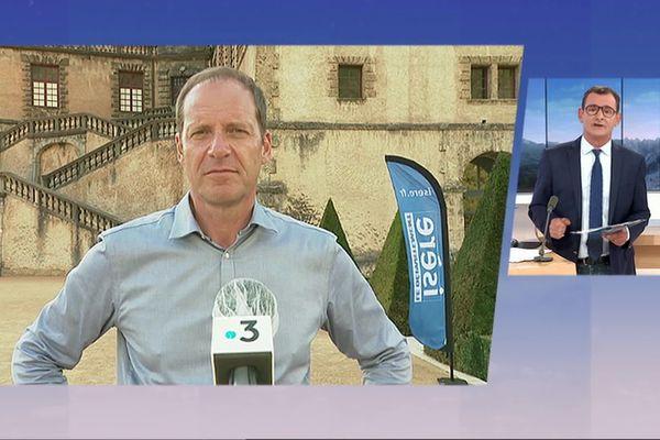 Christion Prudhomme, le directeur du Tour de France était l'invité du 19/20 de France 3 Alpes ce 14 juillet