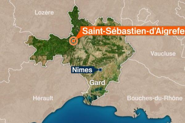L'homme a été retrouvé inconscient après une battue sur la commune de Saint-Sébastien-d'Aigrefeuille.