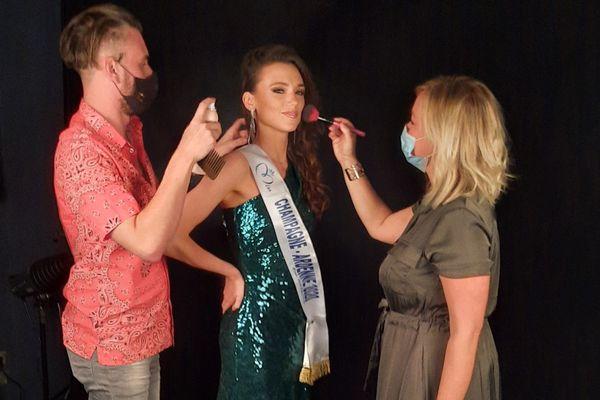 Première séance photo ce lundi 7 septembre à Tinqueux (Marne) en tant que Miss Champagne-Ardenne