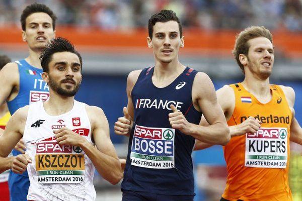 Le girondin Pierre-Ambroise Bosse lors de la demi-finale de 800 aux championnats d'Europe d'Athlétisme 2016.