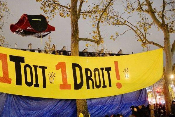 Archives : le DAL s'était installé sur la place de la République en novembre 2013