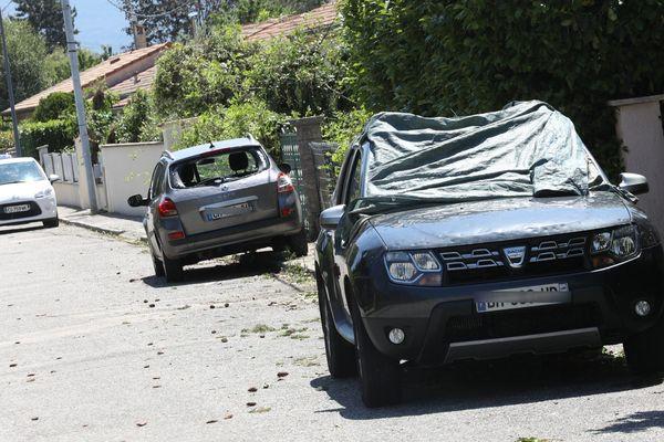 Au moins 50 000 déclarations de sinistres ont été déposées dans la Drôme auprès des assureurs, selon une estimation d'assurances, après l'épisode de grêle du 15 juin 2019.