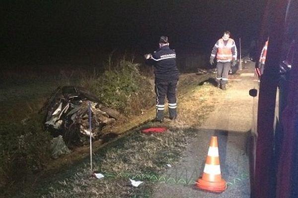 L'automobiliste a perdu le contrôle de son véhicule avant de sortir de la route D135 à Aubord, dans le Gard - 28 novembre 2015